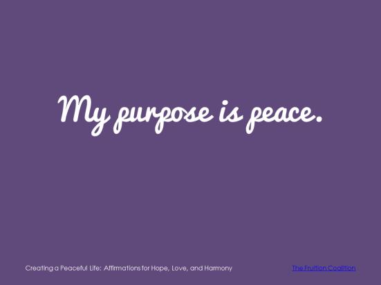 3-15 Peaceful Purpose