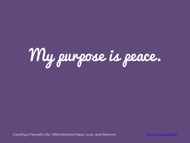 3-15 Peaceful Purpose